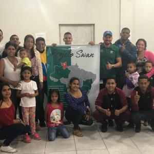 Grupo de migrantes de Roraima vieram para Rio Grande em 2019, através do Projeto Swan, que visava auxiliar migrantes a ingressar no mercado de trabalho brasileiro e se vincularem à comunidade.