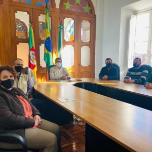 Reunião com o prefeito de Rio Grande.