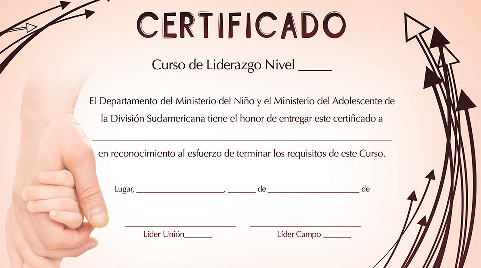 Certificado Curso de Liderazgo del Ministerio del Menor