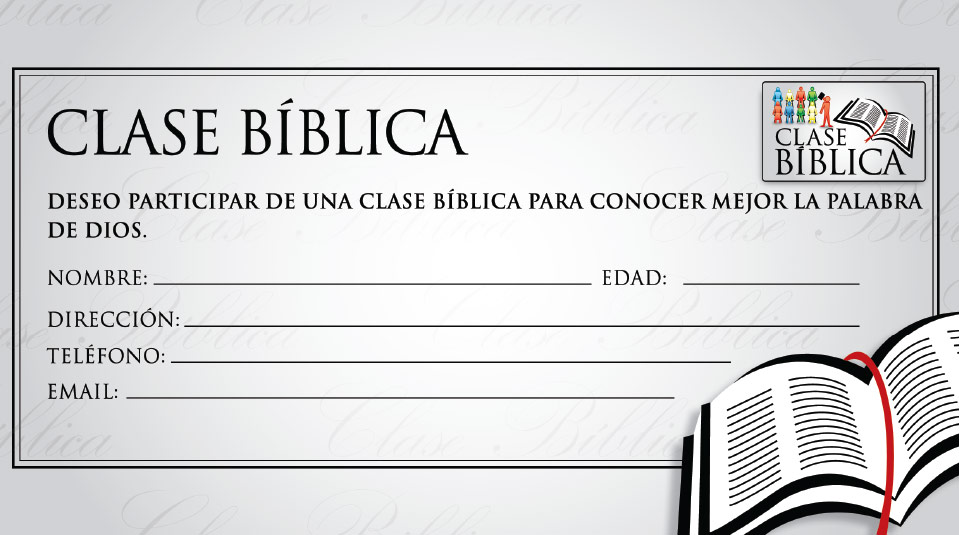 Ficha de Inscripción: Clase Bíblica
