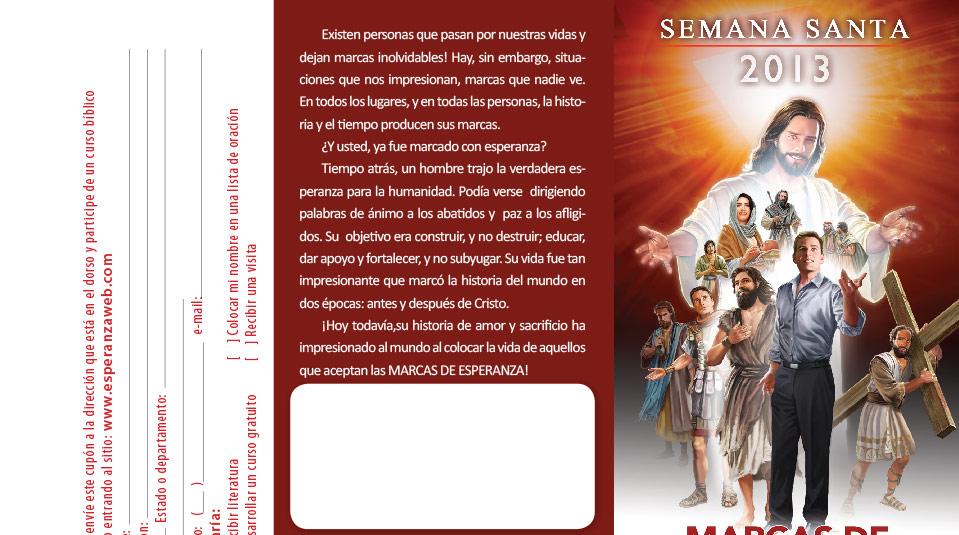 Folleto: Semana Santa 2013