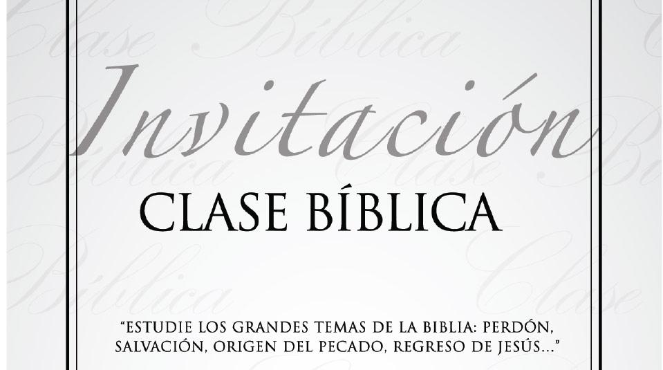 Invitación: Clase Bíblica