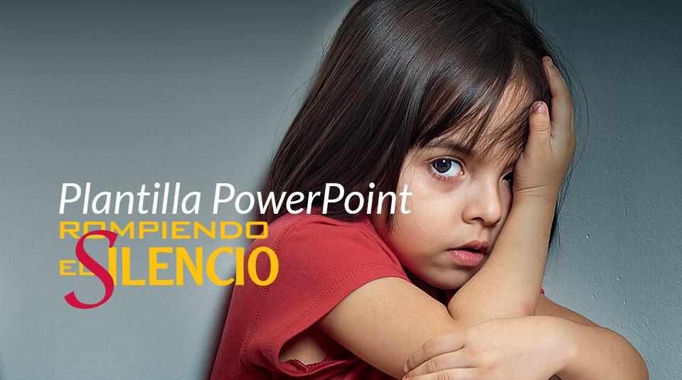 Plantilla para PowerPoint: Rompiendo el Silencio 2013