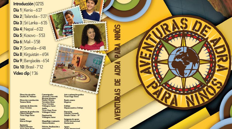 Tapa DVD Aventuras de ADRA para Niños