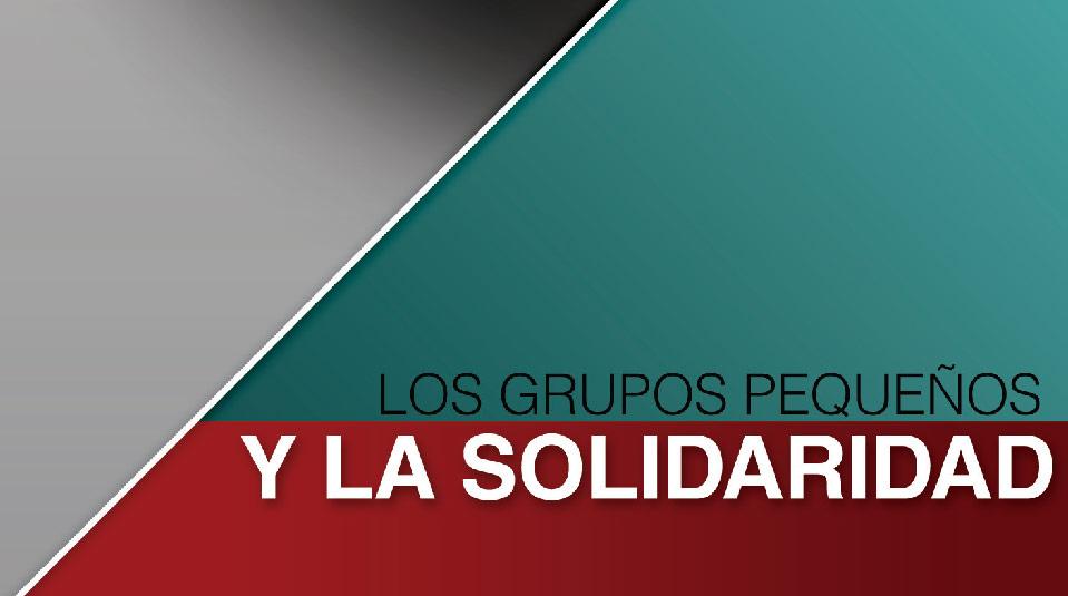 Manual: Los Grupos Pequeños y la Solidaridad