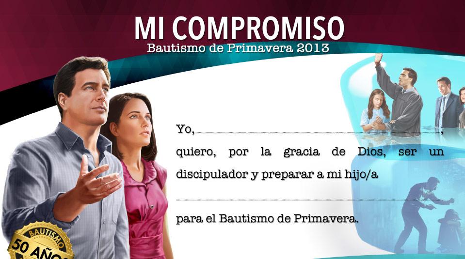 Certificado: Bautismo de Primavera 2013
