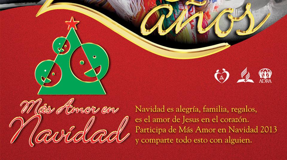 Afiche: Más Amor en Navidad 20 anos