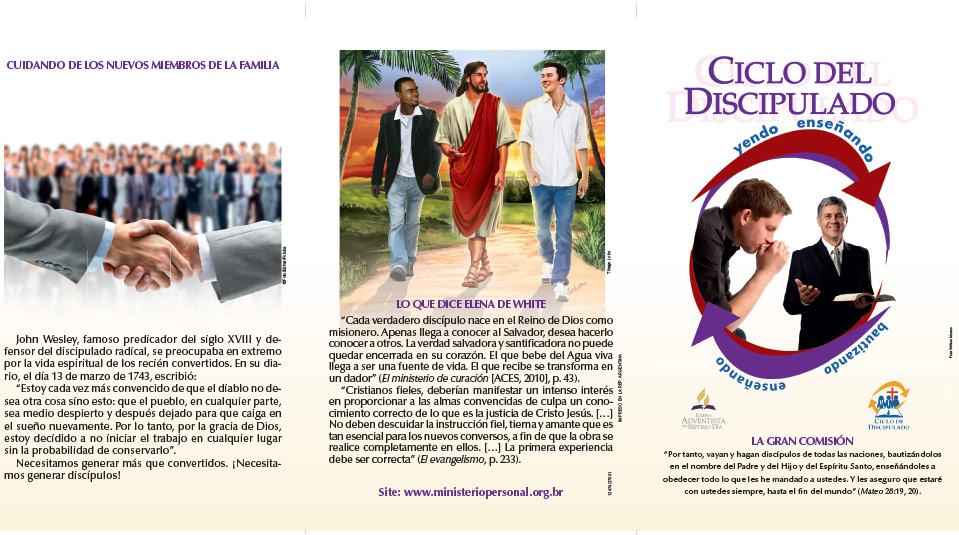 Tríptico: Ciclo de Discipulado – Cuidando de los Nuevos Miembros de la Familia
