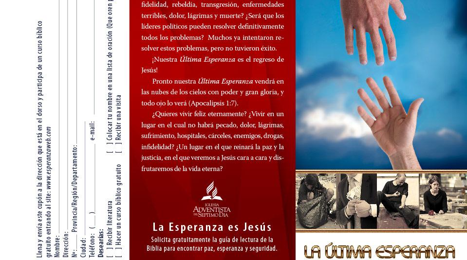 Volante: La última esperanza – Evangelismo vía satélite 2013