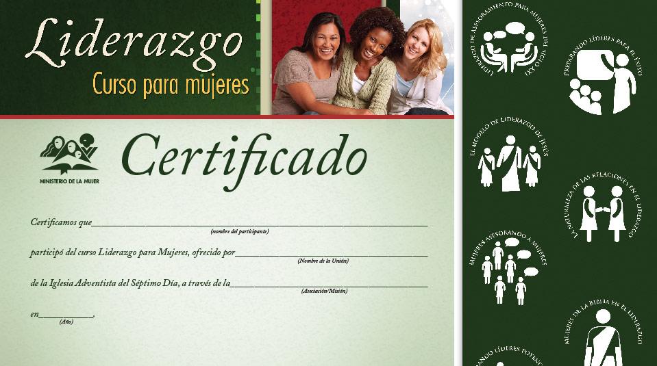 Certificado: Curso de Liderazgo para mujeres nivel 4