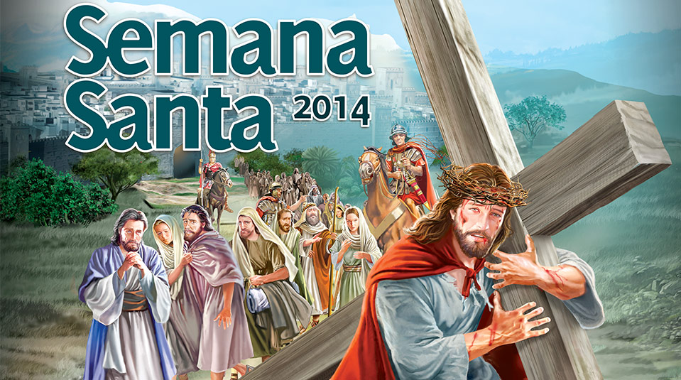 Afiche: En los pasos de Jesús – Semana Santa 2014