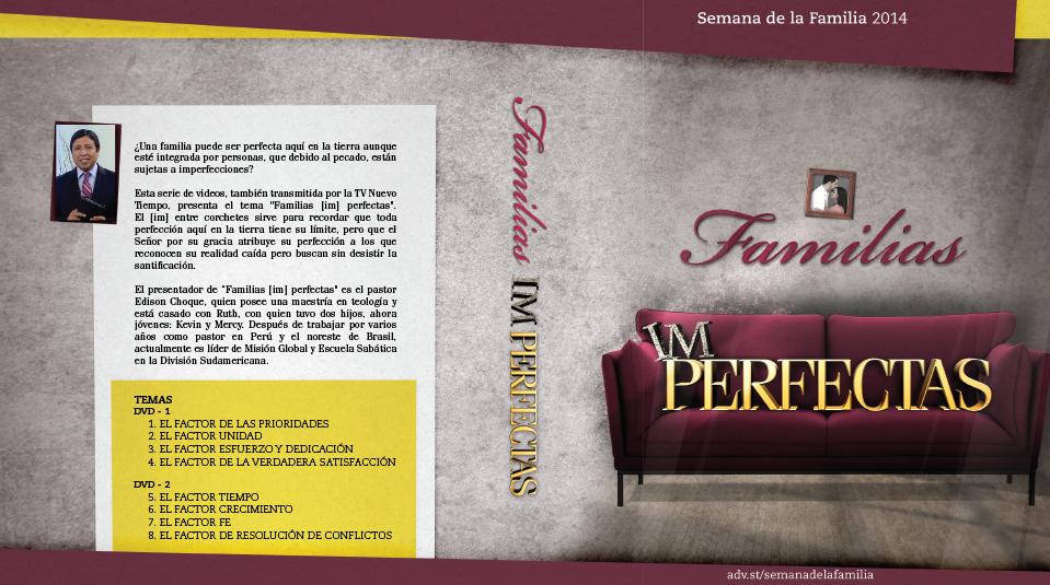 Tapa y Label del DVD – Semana de la Familia 2014
