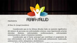 Papel membretado – Feria de Salud