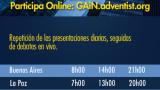 GAiN 2015 – Horario de las ponencias