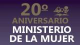 Banner: Aniversario ministerio de la Mujer