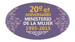 Botón: Aniversario ministerio de la Mujer
