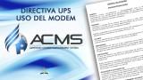 Directiva UPS – Uso del Modem