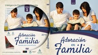 Tapa y Label del DVD: Adoración en familia 2015