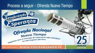 Pasos para la Ofrenda Nuevo Tiempo Perú