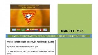 OMC 011 – Orientaciones del MInisterio de Conquistadores – Edades