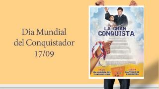 Afiche (psd): Día Mundial del Conquistadores 2016