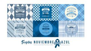 Tarjetas Prevención del Cáncer de Próstata #NoviembreAzul 2016
