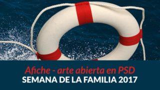 Afiche arte abierta PSD | Semana de la Familia