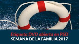 Etiqueta de DVD para imprimir y PSD | Semana de la Familia