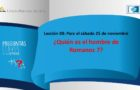 Preguntas claves – LES 8 – 4 Trimestre – 25 de Noviembre de 2017