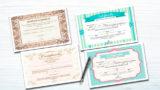 Certificados: Novios, casamiento y nacimiento