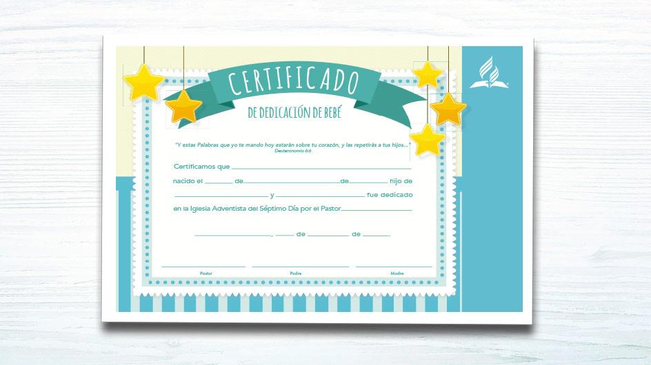 93c314bbc Certificado de Bebé (niño) – Ministerio de la Familia - Materiales y ...