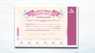Certificado de Bebé (niña) – Ministerio de la Familia