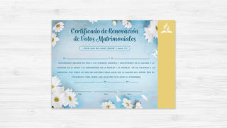 Certificado de Renovación de Votos – Ministerio de la Familia