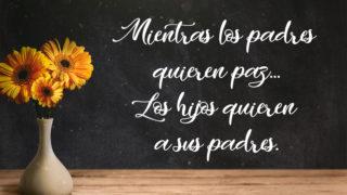 Video 3: Padres quieren paz, Hijos a Padres  | Encuentro de Padres 2019