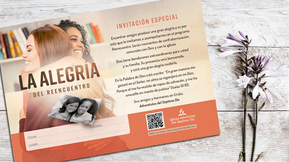 Invitación La Alegría Del Reencuentro Materiales Y