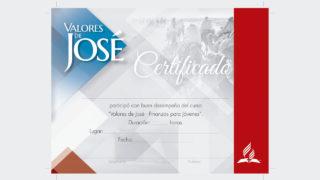 Certificado – Valores de José