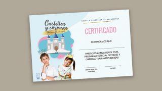 Certificado | Escuela Cristiana de Vacaciones 2021