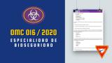 OMC 016 / 2020 – Especialidad de Bioseguridad