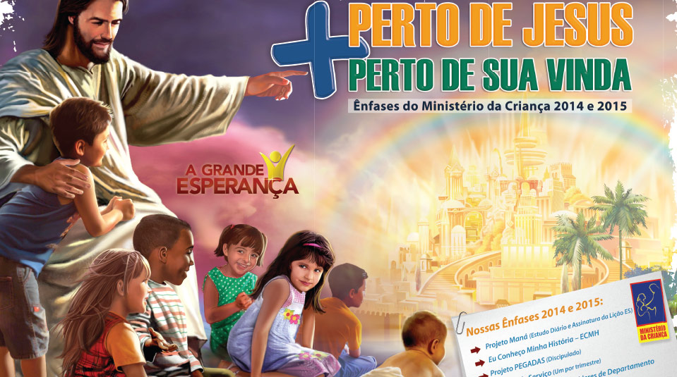 Cartaz: Ênfase do Ministério da Criança 2012 e 2015