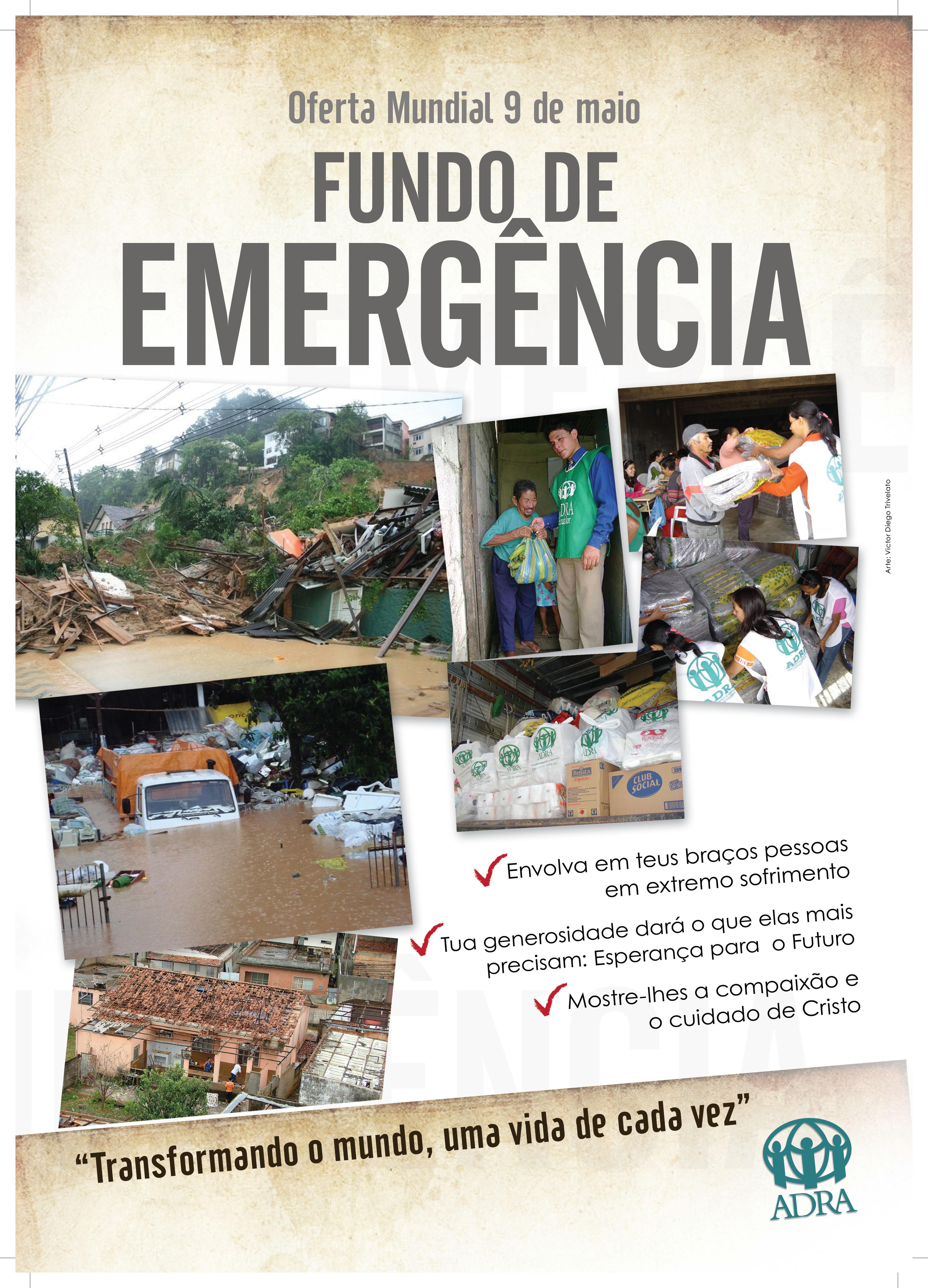 Cartaz: Fundo de Emergência 2009 – ADRA