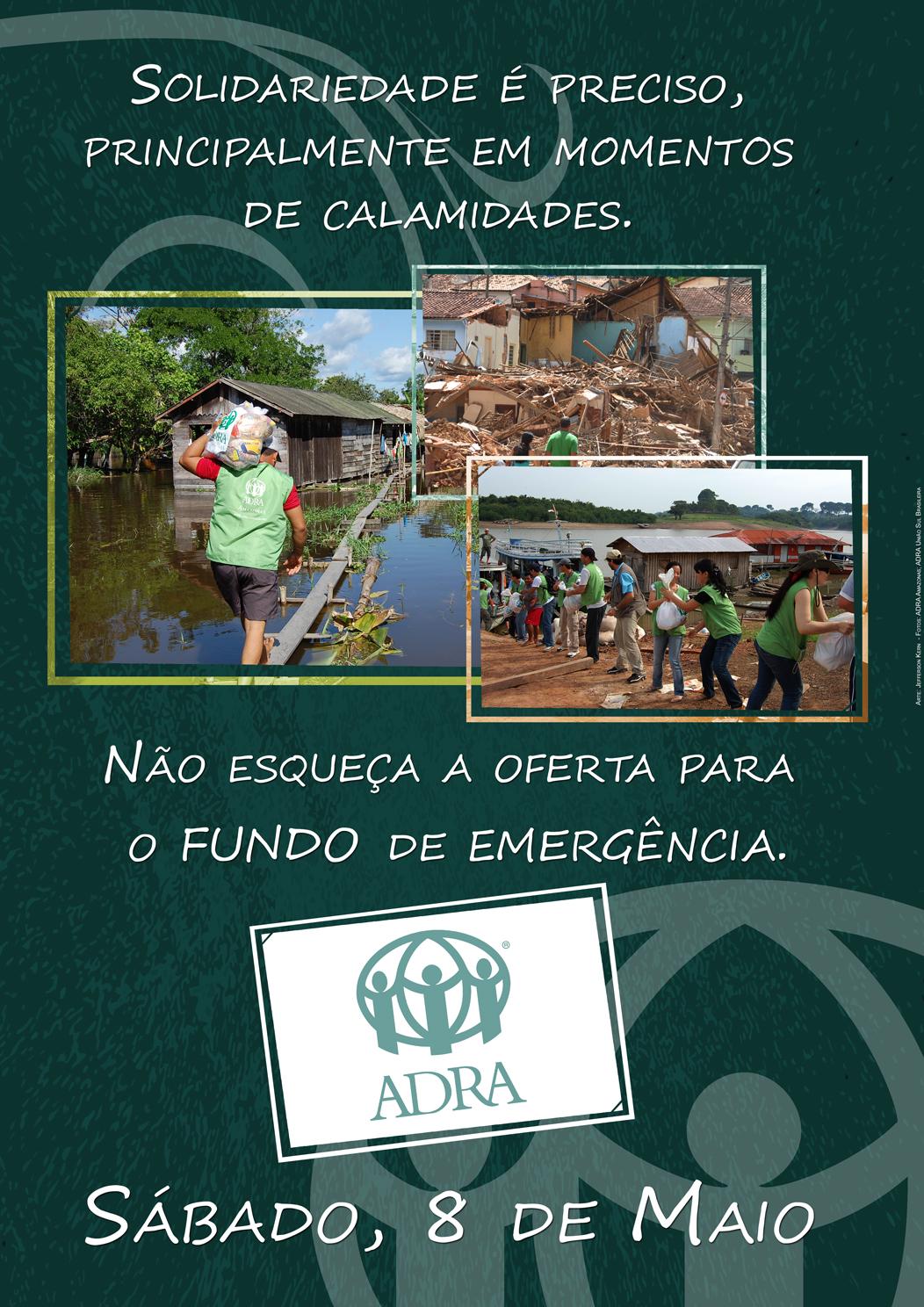 Cartaz Fundo de Emergência 2010 – ADRA