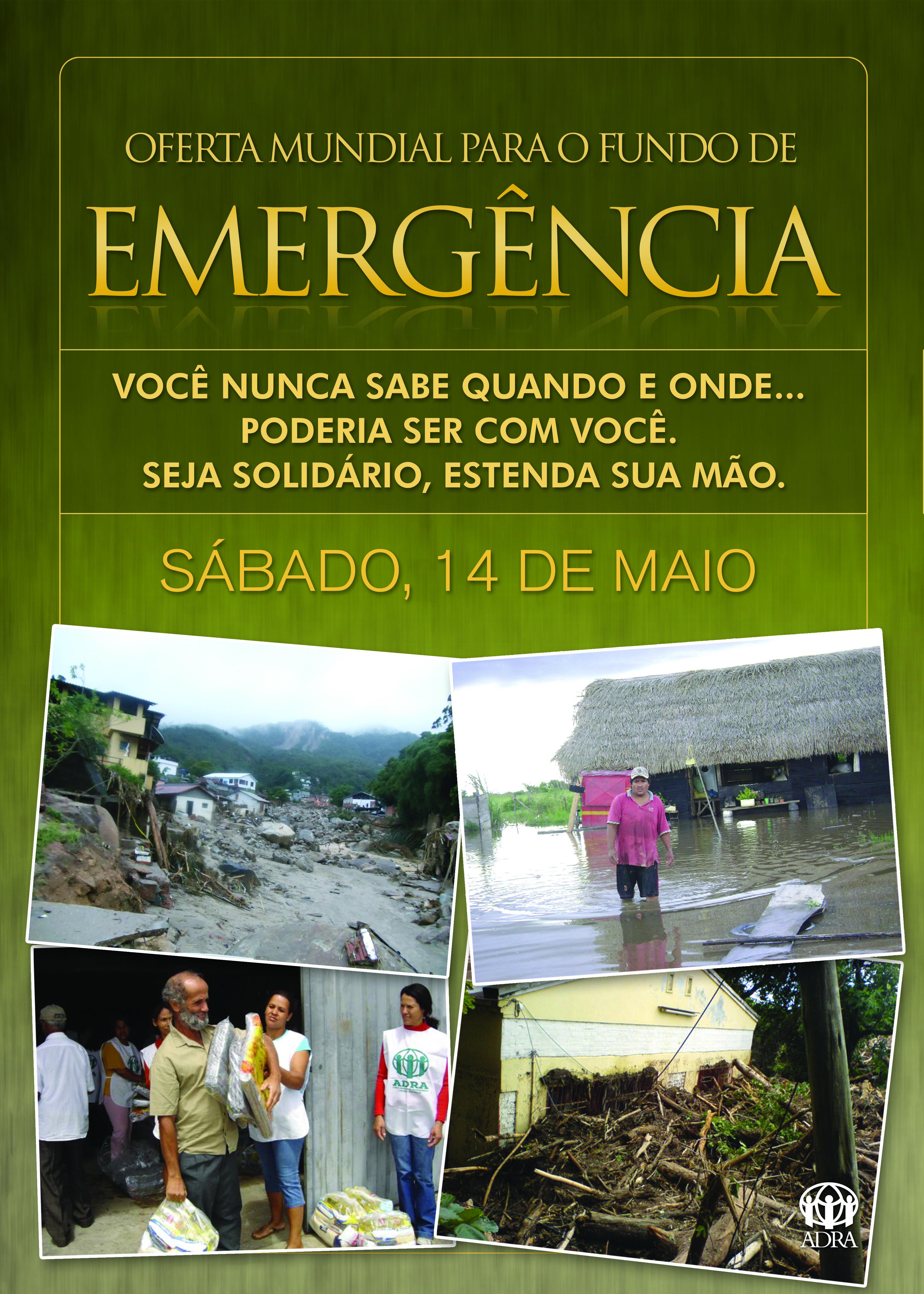 Cartaz:  Fundo de Emergência 2011 – ADRA