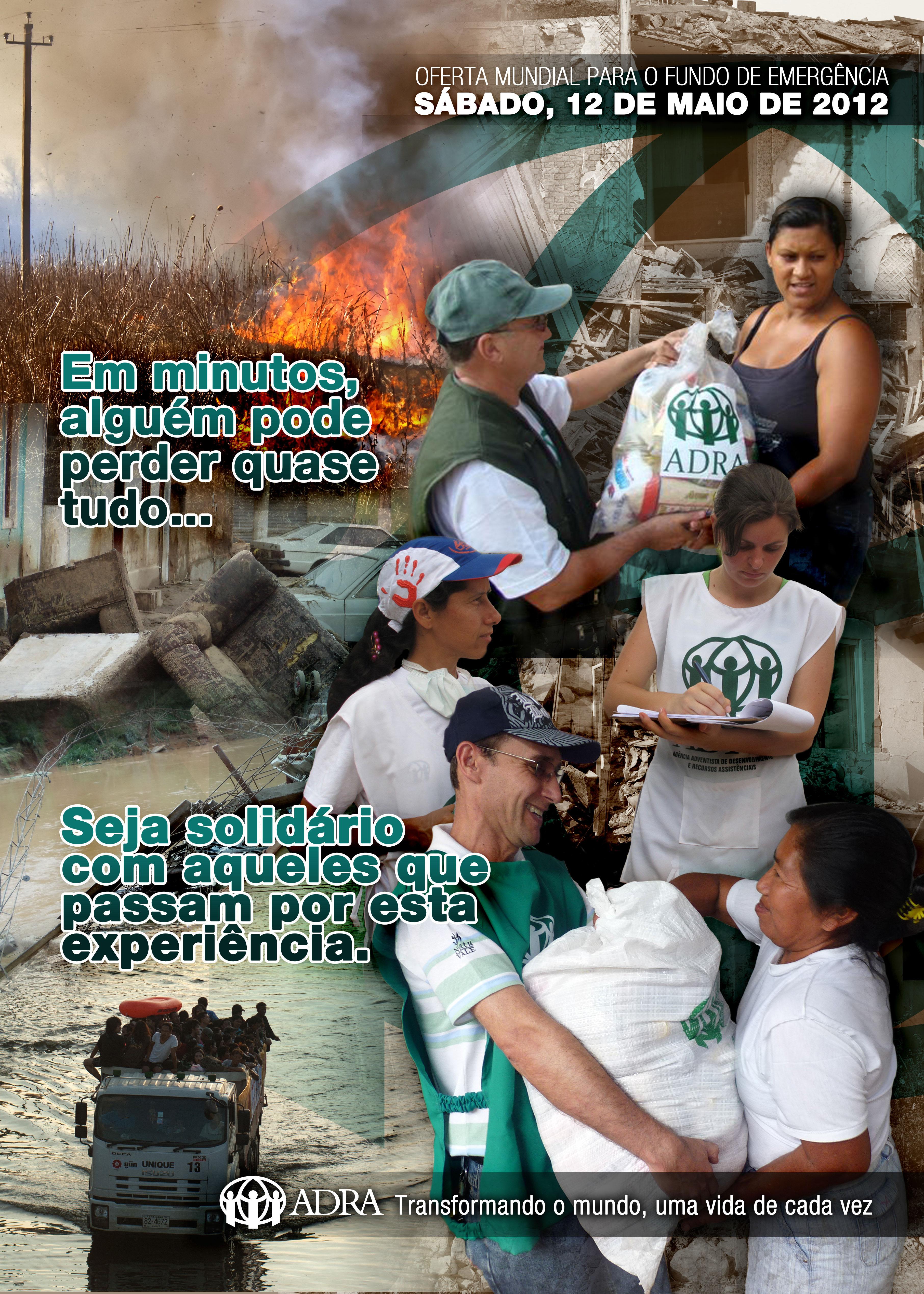Cartaz Fundo de Emergência 2012 – ADRA