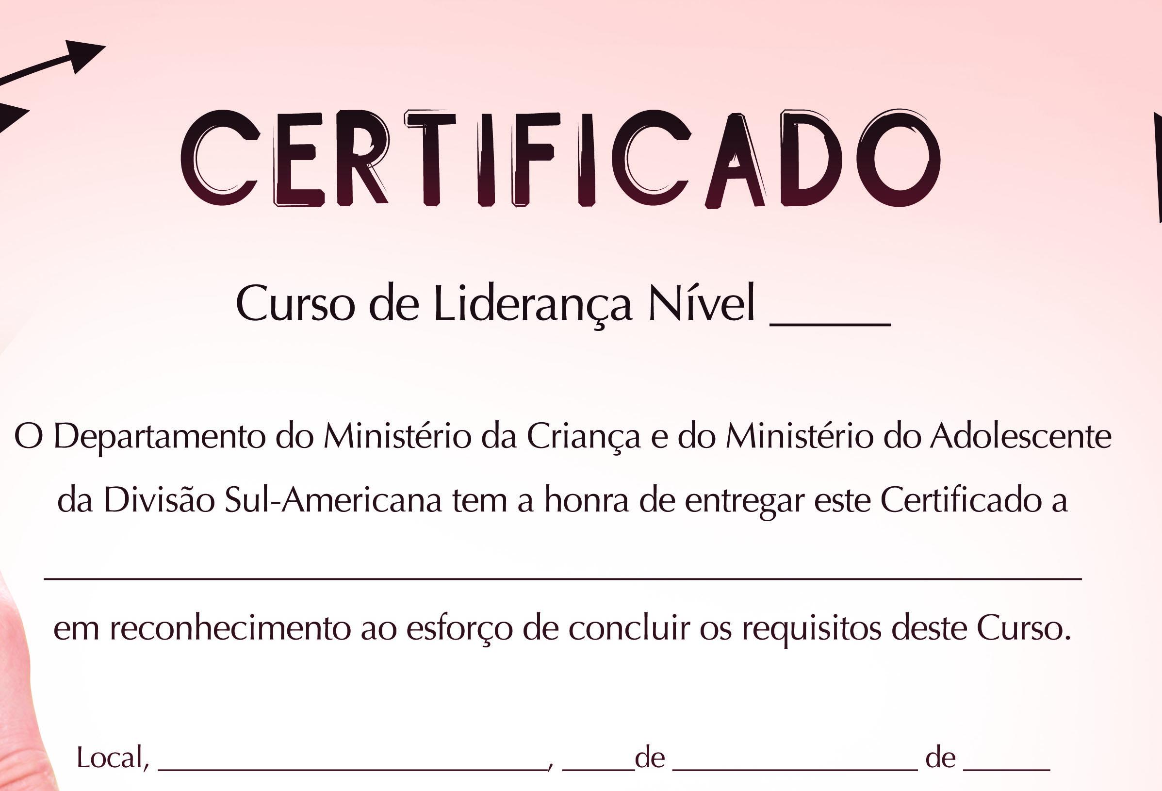 certificado liderança