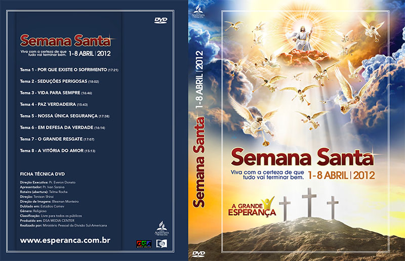 Capa do DVD: Semana Santa 2012