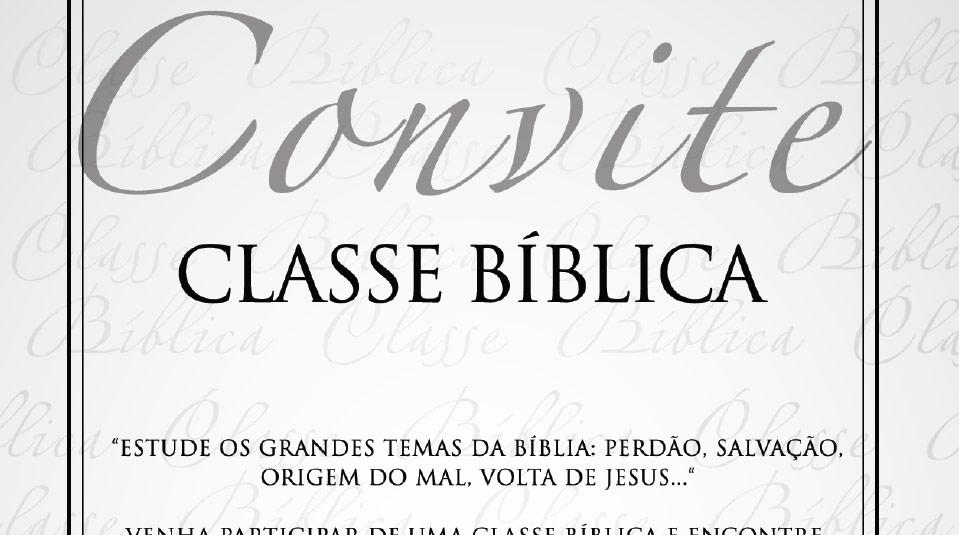 Convite: Classe Bíblica