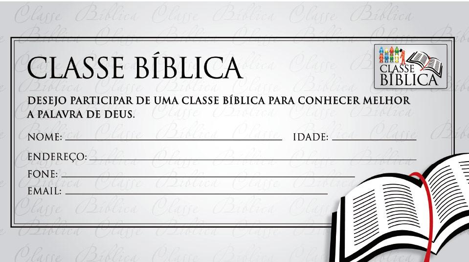 Ficha de Inscrição: Classe Bíblica