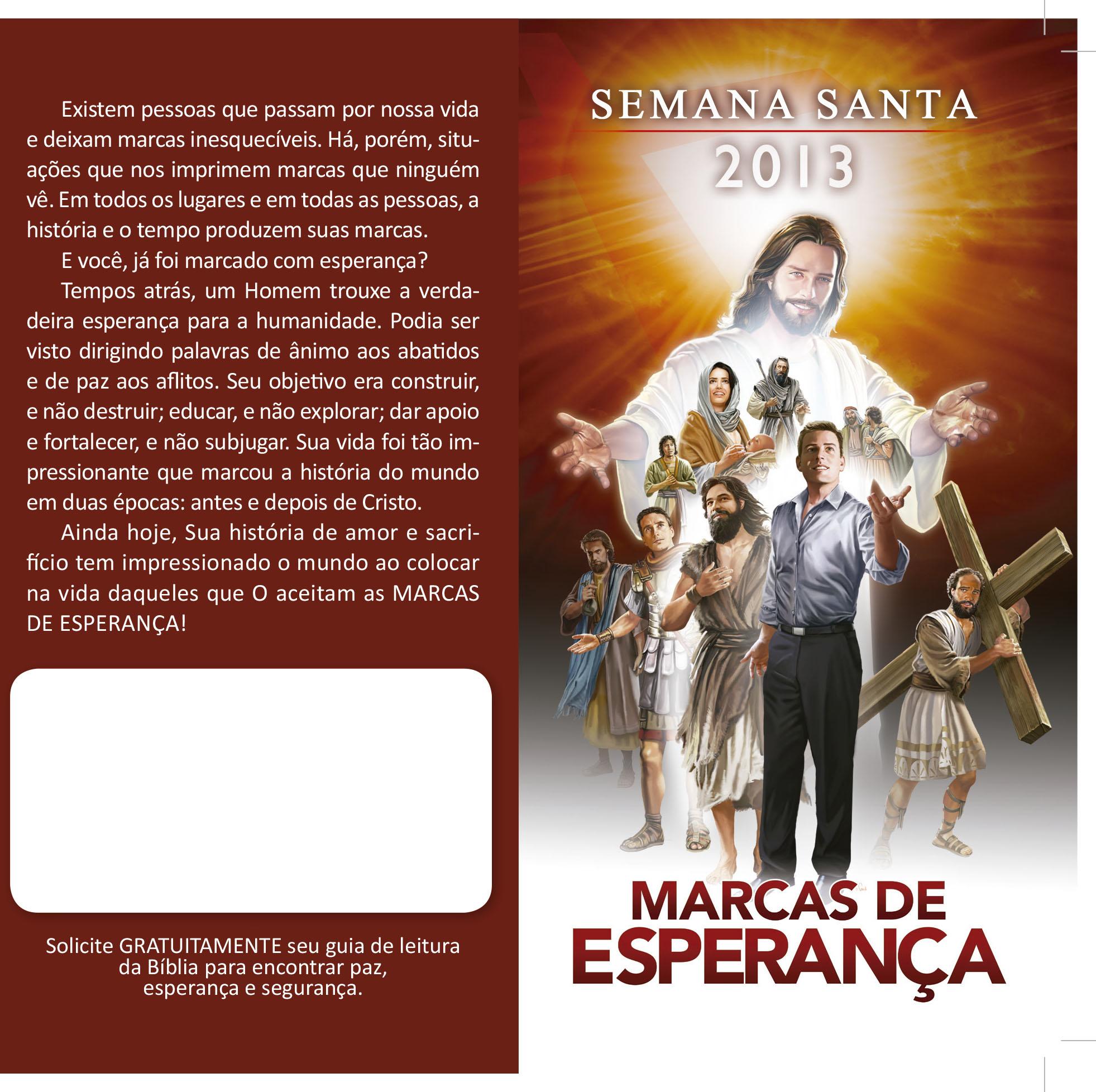 Folheto: Semana Santa 2013