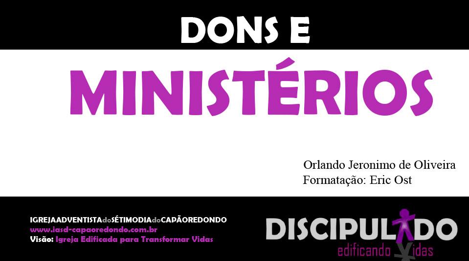 Módulo 2: Dons e Ministérios – Apostila Discipulado edificando Vidas