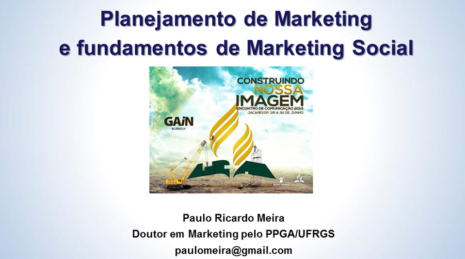 PPT: Planejamento de Marketing e Fundamentos de Marketing Social